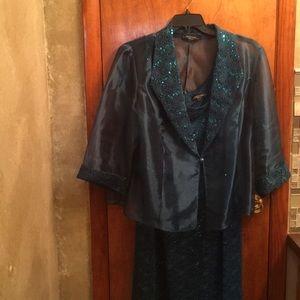 R & M Richards woman's sequin dress